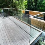 Metal Balcony Aluminum Glass Railing Frameless Mirror Polish Finish Safety Fence Manufactures
