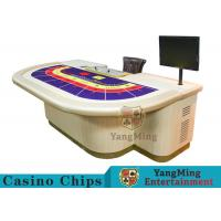 Macao VIP Dedicated Casino Poker Table / Entertainment Baccarat Tables for 9 Players Manufactures