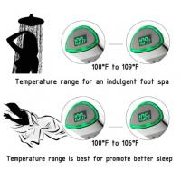 JK-2600 LED Thermometer Handheld Shower Heads Water Powered Light to Display Fahrenheit for Skin Health, Child and Pet Manufactures