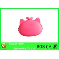 Non-toxic Locked Child Silicone Coin Purse / Girls Change Purse with Logo Printing Manufactures