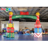 China 5*4m Inflatable Christmas Arch with Gift Box for Yard Decoration on sale