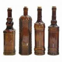 Color Spray Glass Wine Bottles with Cork Manufactures