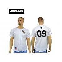 Cheap 100% polyester blank design custom sublimation baseball jerseys with botton Manufactures