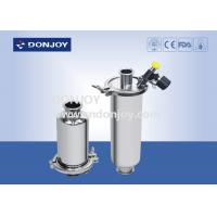 China Food Processing SS304 Inline Sanitary Filter With Sample Valve / Discharge Valve on sale