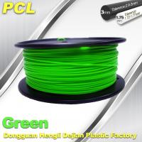 Green Low Temperature 3D Printer Filament , 1.75 / 3.0mm PCL Filament Manufactures