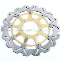 Durable Motorcycle Brake Disc Heat Treatment With Color Anodized Manufactures