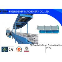 China Continuously Automatic PU Sandwich Panel Production Line Two Tanks on sale