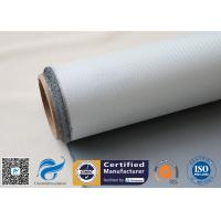 1 Side 18 Oz Grey Silicone Coated Fiberglass Fabric for Heat Insulation Pipe Cover Manufactures