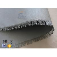 "0.45mm PU Coated Glass Fibre Fabric For Welding Blanket 460gsm 39"" Cloth Manufactures"