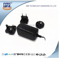 Quality Wall Mount AC DC Switching Power Supply 12v 2a With Interchangeable Plugs for sale