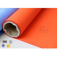 Orange Acrylic Coated Fibreglass Fabric 8.3oz 39 Inches Heat Resistant Manufactures