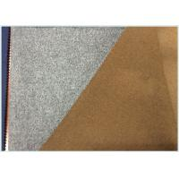 50% Wool Blend Fabric For Coats, Soft Light Grey Wool Fabric Heavyweight Manufactures