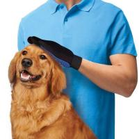 Gentle Silicone Dog Grooming Glove , Hair Remover Pet Deshedding Glove Manufactures