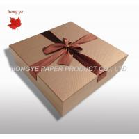 Recycled Corrugated Cardboard Chocolate Boxes For Wedding Favor Manufactures