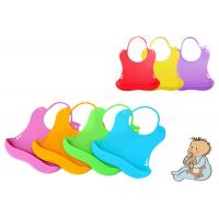 China Customized Silicone Baby Bibs With Adjustable Secure Strap , Easy Cleaning on sale