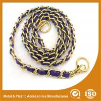 China Customized Gold Copper Handbag Metal Chain With Leather Eco Friendly on sale