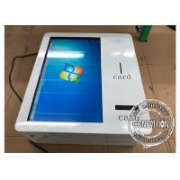 21.5 Inch Wall Mount Smart IR Touchscreen Self Service Machine With Cash Receiver Manufactures