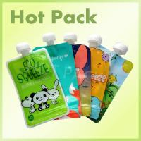 Eco Friendly Disposable Baby Food Stand Up Pouch With Spout Food Grade Leak Proof Manufactures