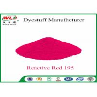 Powder Fabric Dye Reactive Red WBE C I Red 195 Reactive Dyes High Fastness Manufactures