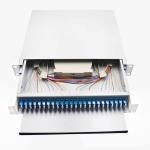 48 Port LC Fiber Patch Panel, 19 rack mount fiber optic lc patch panel,sliding drawer 1U fiber optic patch panel Manufactures