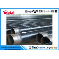 LSAW Coated Steel Gas Pipe , Anti Corrosion Protection Coated Black Pipe Manufactures