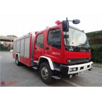 ISUZU Chassis Commercial Fire Trucks Dry Powder For Petrochemical Enterprises Manufactures