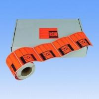 Waterproof Adhesive Fluorescent Label, Used as Express and Shipping Labels, Accepts Customized Sizes Manufactures