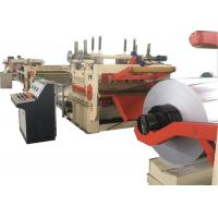 Rotary Shear Cut To Length Line / Steel Coil Shearing Machine Width 300 - 2500mm Manufactures