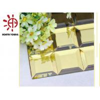 HTY - TG 300 300*300 Shiny  Gold Color Plating Glass Mosaic Tile Foshan Factory Manufactures