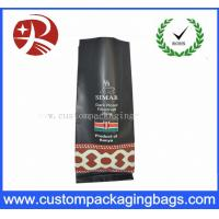 PET VMPET PE Stand Up Zipper Pouch Bags , Coffee Bean Bags Black Manufactures