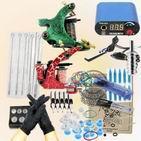 Professional Tattoo 2 Machine Guns Power Supplies Needles equipment Kit Manufactures