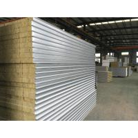 Colour Coated Steel Rock Wool Sandwich Panel Roofing Sheets Fire Protection Rating A1 Manufactures