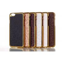 China Hot Sale iPhone 6 Football Line PU Leather Skin Case With Chrome Plated Hard Cover on sale