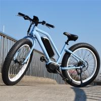 26 Inch Full Suspension Electric Mountain Bike Wattage 351 - 500w With Middle Drive Motor Manufactures