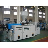 China 37KW PLC sPlastic Extruder Machine Twin Conical Screw For PE And Wood plastic on sale