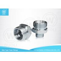 Carbon Steel Hydraulic Bite Type Tube Fitting Metric Thread With ED - Ring Manufactures