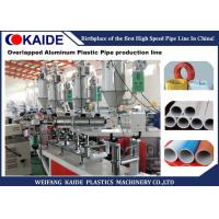 Aluminum Plastic Composite Pipe Production Line With Ultrasonic Overlap Welding Manufactures