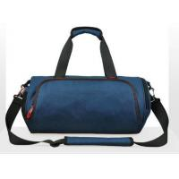210D Lining Gym Duffle Bag , Blue / Black Round Waterproof Duffle Bags Manufactures