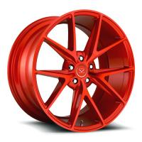 Chinese customize deep dish 1 pc flow forged red color wheel rim Manufactures