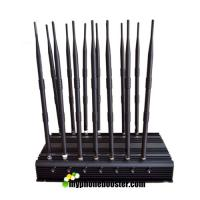 14 Antennas 35W High Power Adjustable Cell Phone Signal Jammer Blocker Jam GSM DCS 3G 4G Wimax Wifi GPS Camera UHF VHF Manufactures