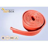 550C Heat Resistant Silicone Fiberglass Sleeve Insulation Cable Pipe Protection