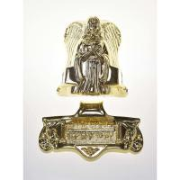 Angel Shaped Casket Ornaments , Metal Coffin Fittings 19#  In Gold Plating Manufactures