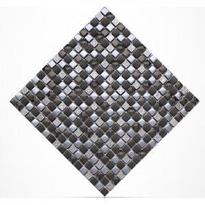 Diamond Crystal Plated Glass Kitchen Backsplash Mosaic Tiles 15 X 15mm Manufactures