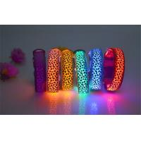 Fationable Leopards Decorative Pattern Illuminated Pet Collars Waterproof Manufactures
