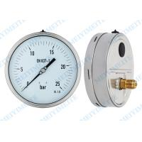 "6"" Hydraulic pressure gauge brass internals fillable with shrink bayonet bezel Manufactures"
