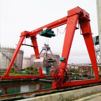 China Cabin Control Single Girder Gantry Crane 20 Ton For Building Material Shops on sale