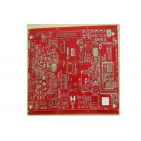 RF Multilayer PCB Board , Single / Double Sided Pcb Prototype Board Red Color Manufactures
