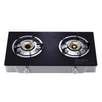 Buy cheap 2 Burner Table Top Gas Stove , Two Burner Gas Cooktop With Tempered Glass Panel from wholesalers