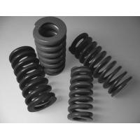 Black Cylindrical Spiral Heavy Duty Compression Springs With 40mm Outside Diameter Manufactures