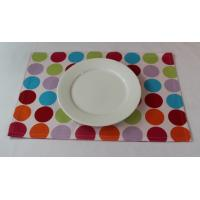 Red Dot Printed 250gsm Canvas Cotton Fabric Placemats Coffee Table Mat